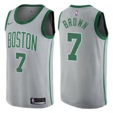 2017-18 Season Jaylen Brown Boston Celtics #7 City Edition Gray Swingman Jersey