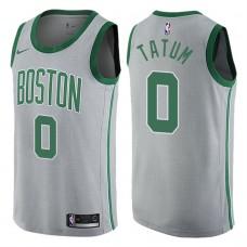 2017-18 Season Jayson Tatum Boston Celtics #0 City Edition Gray Swingman Jersey