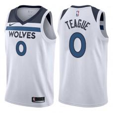 2017-18 Season Jeff Teague Minnesota Timberwolves #0 Association White Swingman Jersey