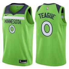 2017-18 Season Jeff Teague Minnesota Timberwolves #0 Statement Green Swingman Jersey