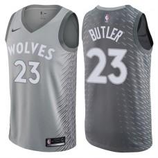 2017-18 Season Jimmy Butler Minnesota Timberwolves #23 City Edition Gray Swingman Jersey