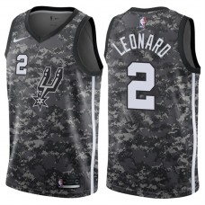 2017-18 Season Kawhi Leonard San Antonio Spurs #2 City Edition Camo Swingman Jersey
