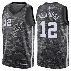 2017-18 Season LaMarcus Aldridge San Antonio Spurs #12 City Edition Camo Swingman Jersey