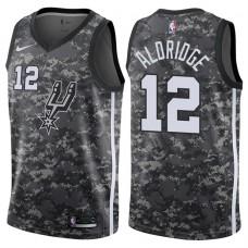 2017-18 Season LaMarcus Aldridge San Antonio Spurs #12 City Edition Camo Swingman Jersey