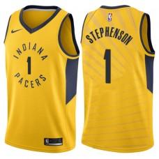 2017-18 Season Lance Stephenson Indiana Pacers #1 Statement Gold Swingman Jersey