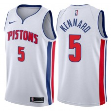 2017-18 Season Luke Kennard Detroit Pistons #5 Association White Swingman Jersey