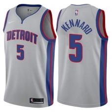 2017-18 Season Luke Kennard Detroit Pistons #5 Statement Gray Swingman Jersey