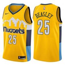 2017-18 Season Malik Beasley Denver Nuggets #25 Statement Gold Swingman Jersey