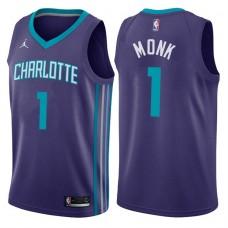 2017-18 Season Malik Monk Charlotte Hornets #1 Statement Purple Swingman Jersey