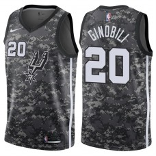 2017-18 Season Manu Ginobili San Antonio Spurs #20 City Edition Camo Swingman Jersey