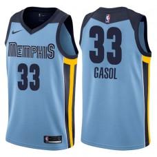 2017-18 Season Marc Gasol Memphis Grizzlies #33 Statement Blue Swingman Jersey