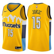 2017-18 Season Nikola Jokic Denver Nuggets #15 Statement Gold Swingman Jersey