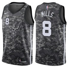 2017-18 Season Patty Mills San Antonio Spurs #8 City Edition Camo Swingman Jersey
