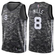 2017-18 Season Patty Mills San Antonio Spurs #8 City Edition Camo Swingman Jersey