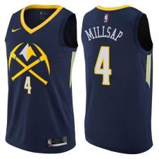 2017-18 Season Paul Millsap Denver Nuggets #4 City Edition Navy Swingman Jersey