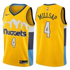 2017-18 Season Paul Millsap Denver Nuggets #4 Statement Gold Swingman Jersey