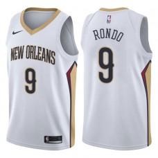 2017-18 Season Rajon Rondo New Orleans Pelicans #9 Association White Swingman Jersey