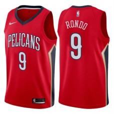 2017-18 Season Rajon Rondo New Orleans Pelicans #9 Statement Red Swingman Jersey