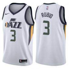 2017-18 Season Ricky Rubio Utah Jazz #3 Association White Swingman Jersey