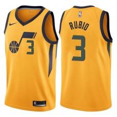 2017-18 Season Ricky Rubio Utah Jazz #3 Statement Gold Swingman Jersey