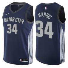 2017-18 Season Tobias Harris Detroit Pistons #34 City Edition Navy Swingman Jersey