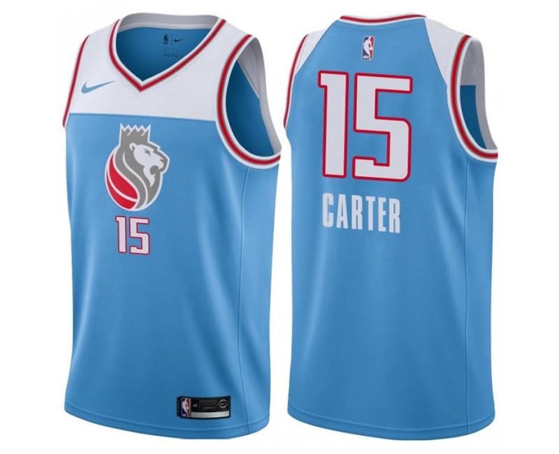2017-18 Season Vince Carter Sacramento Kings #15 City Edition Blue ...