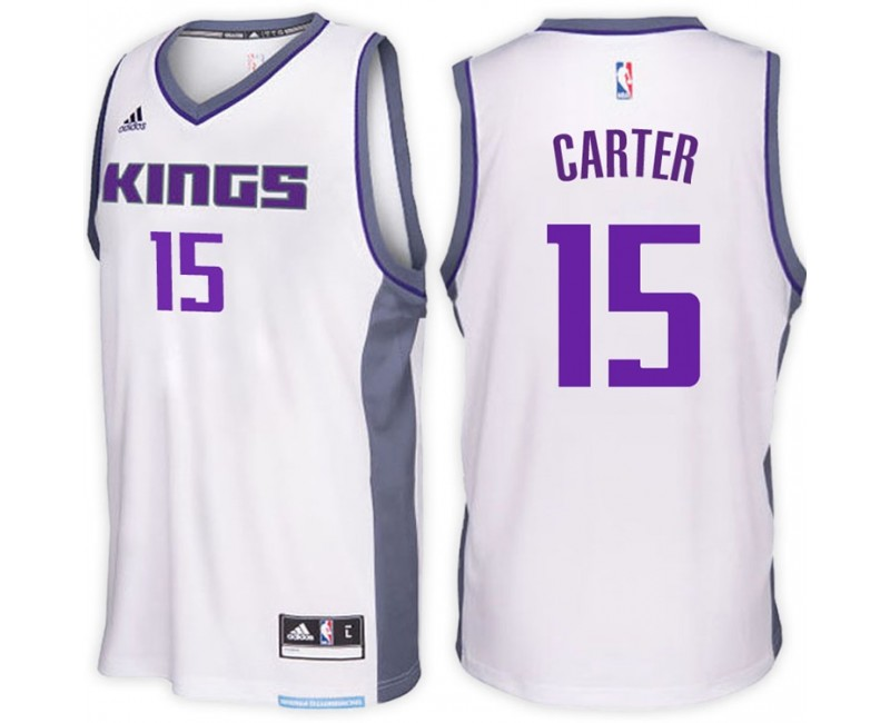 Vince Carter Sacramento Kings #15 Home White New Swingman Jersey