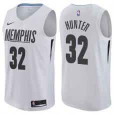 2017-18 Season Vince Hunter Memphis Grizzlies #32 City Edition White Swingman Jersey