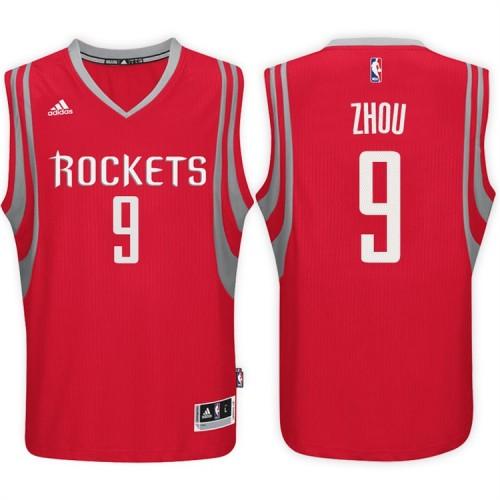 Zhou Qi Houston Rockets #9 Road Red New Swingman Jersey