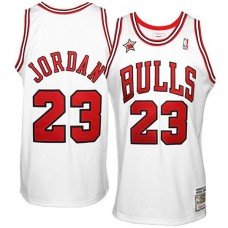 Michael Jordan Mitchell & Ness Chicago Bulls #23 1998 Throwback Jersey-White
