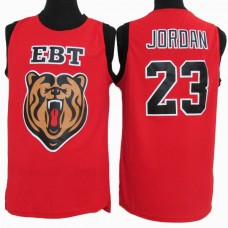 Michael Jordan #23 EBT High School Classic Stitched Red Jersey