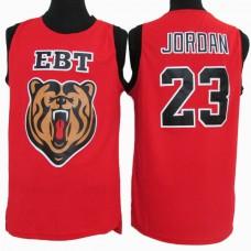 Michael Jordan #23 EBT High School Classic Stitched Red Jersey