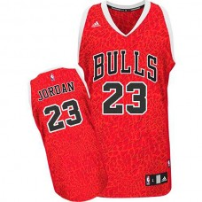 Michael Jordan Chicago Bulls #23 Crazy Light Leopard Swingman Jersey