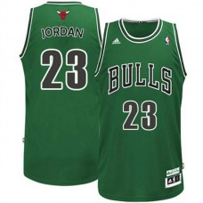 Michael Jordan Chicago bulls #23 ST Patricks Day Revolution 30 Swingman Green Jersey