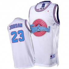 Space Jam #23 Michael Jordan Tune Squad Throwback White Jersey