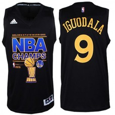 2015 NBA Finals Champions Warriors #9 Andre Iguodala 2014-15 New Swingman Black Jersey
