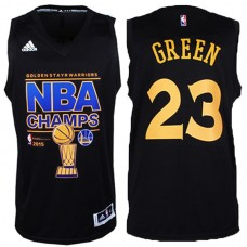 2015 NBA Finals Champions Warriors #23 Draymond Green 2014-15 New Swingman Black Jersey
