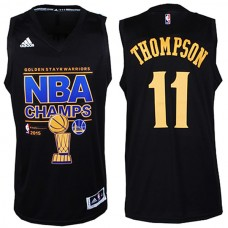 2015 NBA Finals Champions Warriors #11 Klay Thompson 2014-15 New Swingman Black Jersey