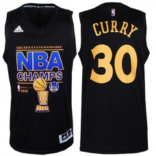 2015 NBA Finals Champions Warriors #30 Stephen Curry 2014-15 New Swingman Black Jersey