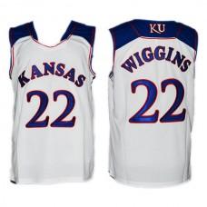 Andrew Wiggins NCAA Kansas Jayhawks #22 College White Basketball Jersey