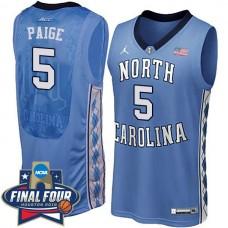 2016 Marcus Paige NCAA North Carolina Tar Heels #5 College Blue Basketball Jersey
