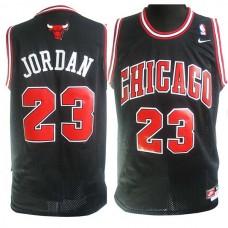 Nike Michael Jordan Chicago Bulls #23 Soul Swingman Black Jersey