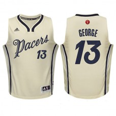 Youth Paul George Indiana Pacers #13 Cream 2015 Christmas Day Swingman Jersey