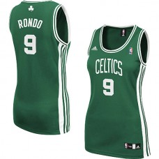 Women's Rajon Rondo Boston Celtics #9 Swingman Green Jersey