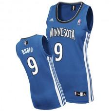 Women's Ricky Rubio Minnesota Timberwolves #9 Blue Jersey