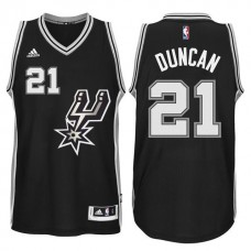 2015-16 San Antonio Spurs #21 Tim Duncan New Swingman Black Signature Spur Jersey