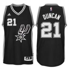 2015-16 San Antonio Spurs #21 Tim Duncan New Swingman Black Signature Spur Jersey