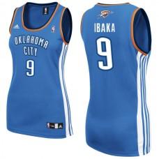 Women's Serge Ibaka Oklahoma City Thunder #9 Blue Jersey