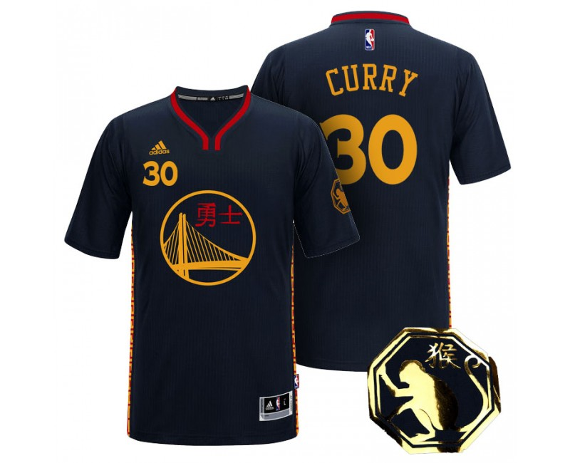 Stephen Curry 2016 Chinese New Year of Monkey Black Jersey