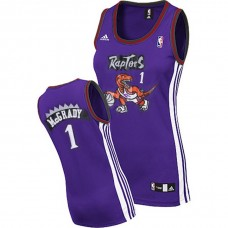 Women's Tracy Mcgrady Toronto Raptors #1 Purple Jersey